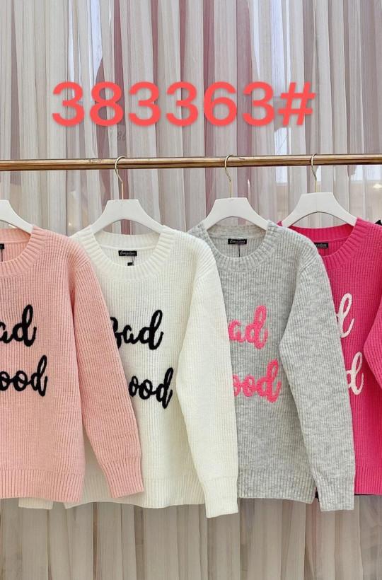 sweterk,przytulny sweterek,sweterek milano paris,ciepły sweterek,siwy sweterek