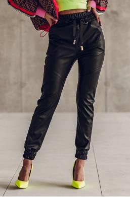 spodnie woskowane,spodnie o la voga,spodnie czarne,modne spodnie,spodnie skinny high