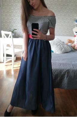 Sukienka JEANS  Made in Italy ,długa sukienka,elegancka sukienka