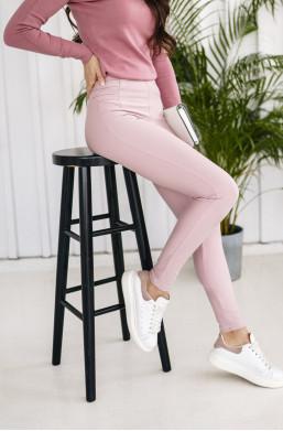 spodnie leginsy,spodnie LOLA,oryginalne spodnie,spodnie pudrowy róż,jasne spodnie