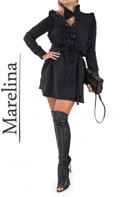 Sukienka  MARELINA w kolorze czarnym,czarna sukienka,krotka sukienka,elegancka sukienka na wyjście