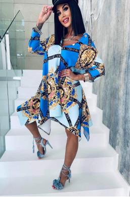 """Sukienka stójka """"Versace""""..."""