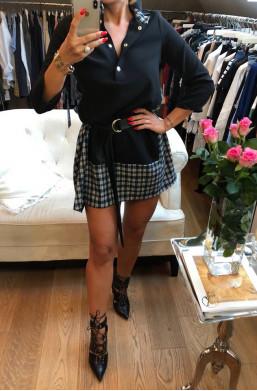 Sukienka z kratką  czarny
