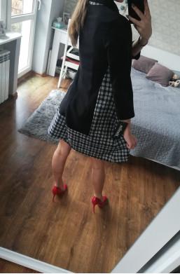 Sukienka z kratką  czarny na urodziny