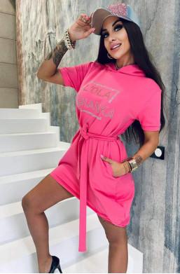 Sukienka różowa bawełniana...