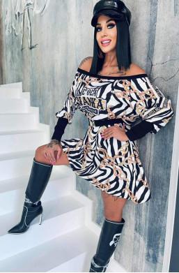 sukienka tunika,tunika bawełniana,tunika zebra,tunika lola bianka,długa tunika,tunika oversize,sukienka tuszująca