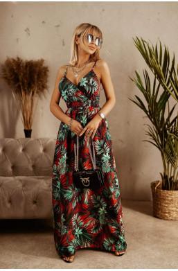 sukienka na ramiączka,sukienka maxi,sukienka made in Italy,modna sukienka,elegancka sukienka