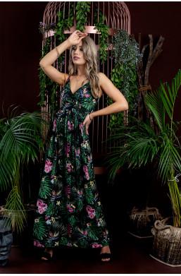 sukienka na ramiączka,sukienka maxi,sukienka made in Italy,modna sukienka,długa sukienka,sukienka z dekoltem