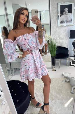 sukienka hiszpanka,sukienka pudrowy motyl,sukienka lola bianka,krótka sukienka,hit mody 2021