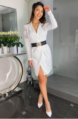Sukienka żakietowa LIDIA Bella Dame,sukienka o żakietowym kroju,sukienka klasyczna,pasowana sukienka