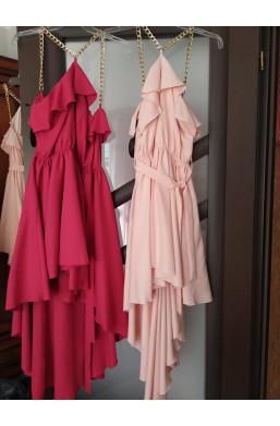 sukienka z łańcuszkiem zamiast ramiączek,sukienka zapinana z tyłu na zamek,amarantowa sukienka,ciechanów,warszawa