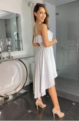 sukienka z falbaną,długa sukienka,oryginalna sukienka,elegancka sukienka,sukienka na imprezę,sukienka na wesele