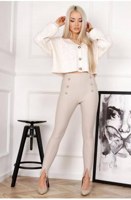 spodnie leginsy beżowe LOLA...