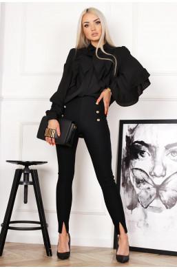 dżersejowe spodnie z pionowym rozcięciem u dołu,idealne do balerinek,spodnie do wielu stylizacji,ciechanów,warszawa