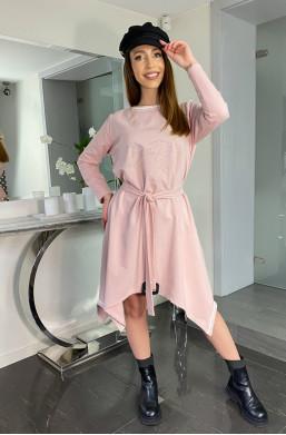 Sukienka MORGAN brzoskwiniowy Bella Dame,długa sukienka,zwiewna sukienka,luźna sukienka,elegancka sukienka