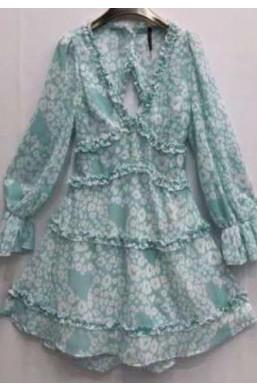 Sukienka w kwiaty made in Italy,piękna sukienka,sukienka na wesele,sukienka na wyjście,sukienka z wycięciem na plecach