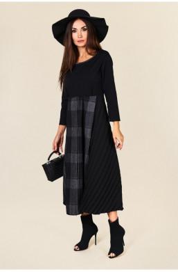 Sukienka maxi  Made in Italy new collection,długa sukienka,sukienka z długim rękawem,czarna sukienka