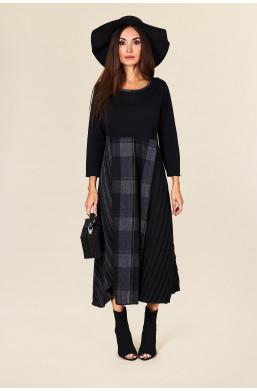 Sukienka maxi  Made in Italy new collection ciechanów,długa sukienka,sukienka z długim rękawem,czarna sukienka