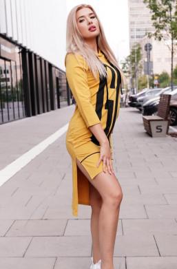 sukienka pomarańczowa asymetryczna,sukienka sabra,sukienka z napisem,krótka sukienka,sukienka na długi rękaw,sportowa sukienka
