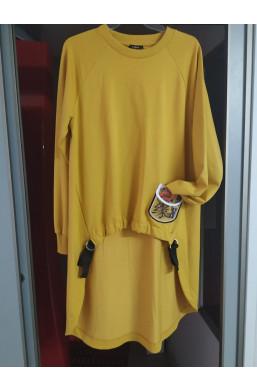 bluza asymetryczna,krótka tunika,bluza sabra,bluza miodowa,modna bluza,ciechanów,warszawa