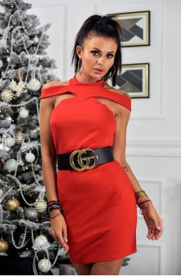 Sukienka best spider O La Voga czerwony,czerwona sukienka,krótka sukienka,obcisła sukienka,sukienka na wieczór