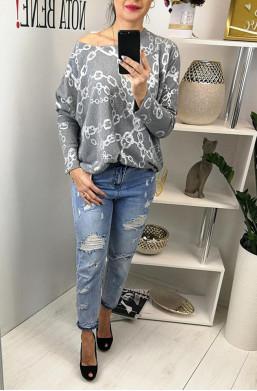 Spodnie jeansy z przetarciami VS MISS