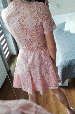 Sukienka biała D&Z fashion z koronki sexi