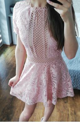 Sukienka różowa D&Z fashion z koronki sexi,modna sukienka,krótka sukienka
